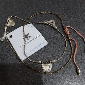 NWT Noonday Collection wrap around silver bracelet